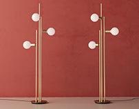 Free 3d model / Bulb Floor Lamp by Hübsch