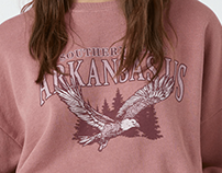 PULL&BEAR | Arkansas Sweatshirt Collaboration
