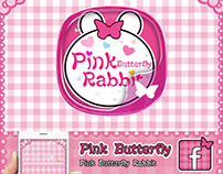 Pink Butterfly Rabbit theme