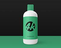 Free Cosmetic Bottle PSD MockUp in 4k