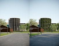 """Архитектурная концепция """"Вертикальный лес"""""""