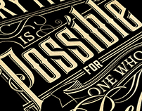 Everything is Possible | Typography Poster