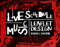 Live Music Schedule Leaflet Design