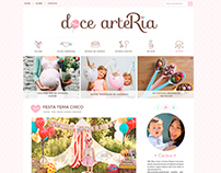 Layout + logo: Blog doce arteRia