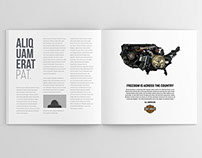 Harley Davidson Corporate Newspaper/ Magazine Ad Series