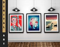 Digital Paintings & Concepts.