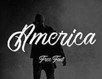 AMERICA - FREE TEXTURED SCRIPT FONT