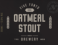 Oatmeal Stout - A Vintage Tyepface