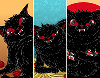 Derpy Black Cat