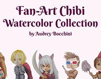Fan Art chibi Watercolor Collection