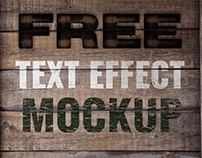 FREE Mock-up Burn, Crack, Paint text FX