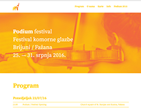 Podium festival website