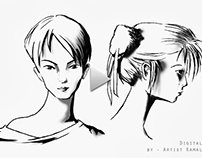 Female Face Sketching - By Artist Kamal Nishad