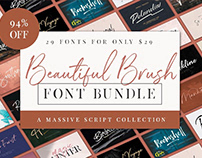 THE BEAUTIFUL BRUSH FONT BUNDLE
