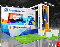 Stand for PSB for the Moscow marathon