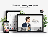 Negan - Clean, Minimal eCommerce PSD Template