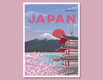 Travel Postcard Illustrations