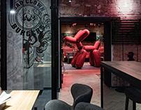 "BAR Restaurant ""Bad Clown Burgers"" Saint-Petersburg"