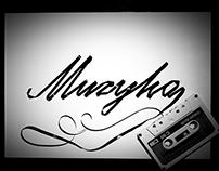 Experimental typography - retro analog tape