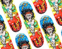 Ilustração em skateboard