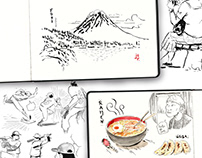 Japan Trip - Sketchbook