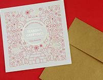 SEASON'S GREETING CARD HOLIDAY by FAVOR|クリスマスカード 2018