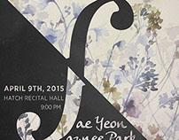 Recital Poster/Program