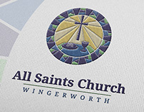 Logo Design for All Saints Church, Wingerworth, UK