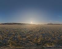 Free Winter HDR 2k Panorama Frosty Morning
