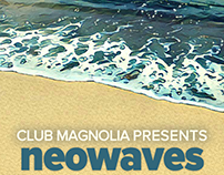 Neo Waves Beach Party Flyer
