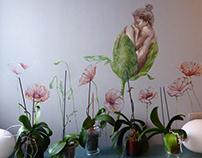 Papaver rhoeas floreciendo