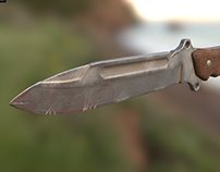 Low Poly Old Knife / Cuchillo viejo