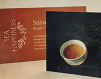 Tea Happiness: Logo and businesscard