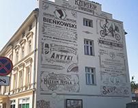 Bydgoszcz Poland / retrowall / typography advertisement