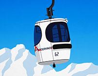 Cervinia Ski Resort Poster