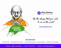 Gandhi Jayanti Banner Design for Social Media Banner