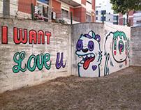 "Street Painting ""I Want Love You"" | Loures Arte Pública"