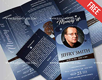 Free Funeral – Tri-Fold PSD Brochure Template