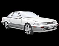Toyota Z20 Soarer Vector Illustration