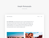 Free Blog Template - Simple Photography