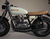 projet moto 3d vintage / 3dsmax / substance painter