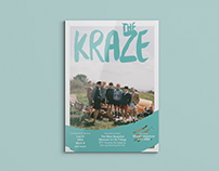 THE KRAZE - identity and layout design for the magazine