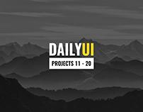 Daily UI (11-20)