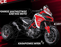 Moto service company graphic design & media management