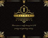 Tashan Restaurant Branding.
