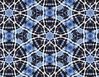 Tie-dye Blue Stars