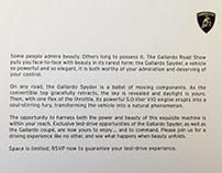 Gallardo Road Show Invitation | Lamborghini