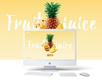 Landing Page -Fruit Juice