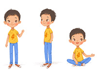 Character design for English schoolbook