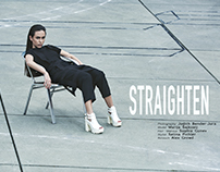 STRAIGHTEN - cover story for MOOB Magazine | issue 13